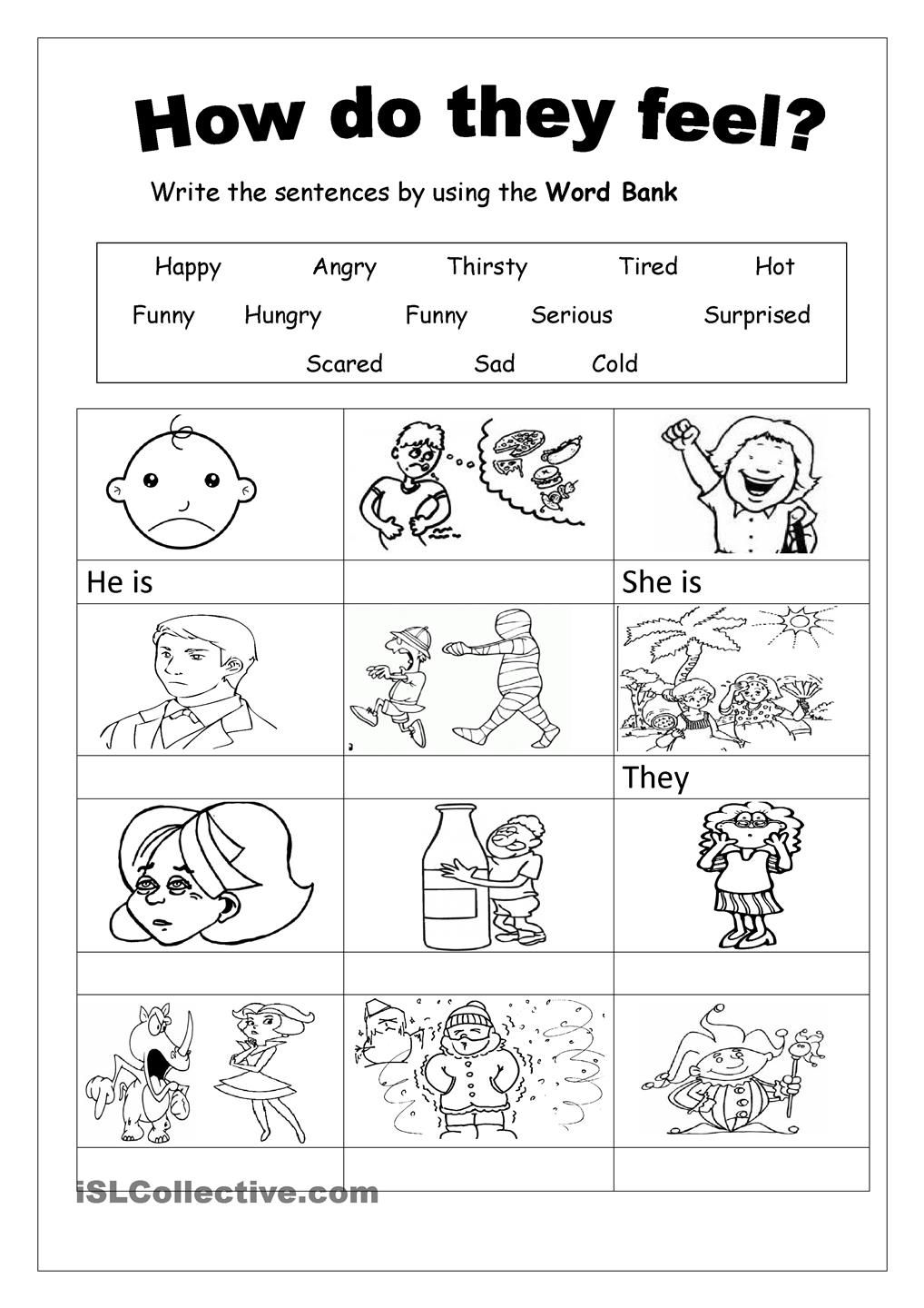 Feelings Worksheet For Kids Worksheets for all | Download and ...