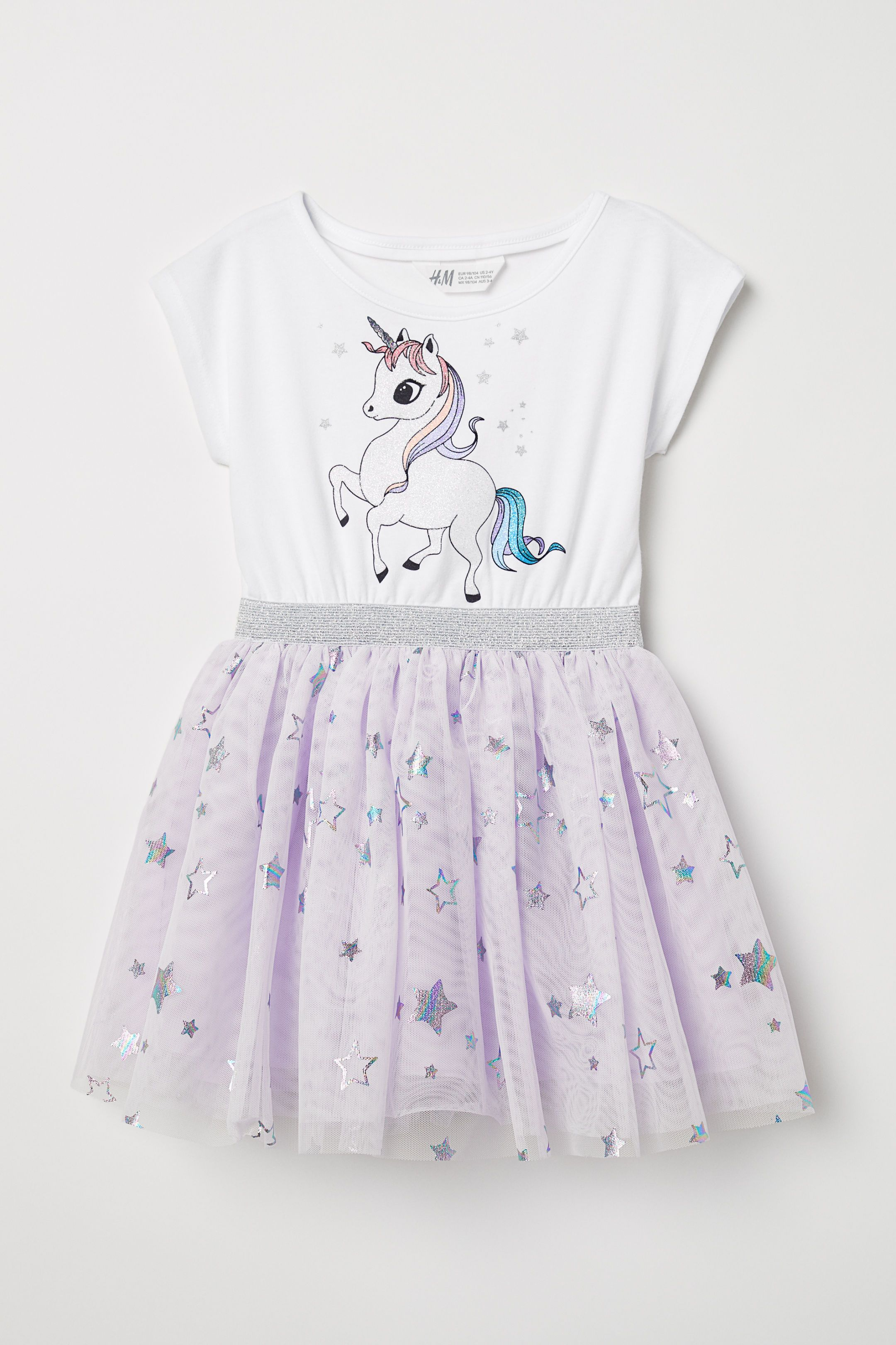 9b752904951 Dress with a tulle skirt - White Unicorn - Kids