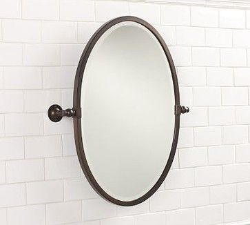 Sussex Pivot Mirror Oval Antique Bronzel Finish Traditional
