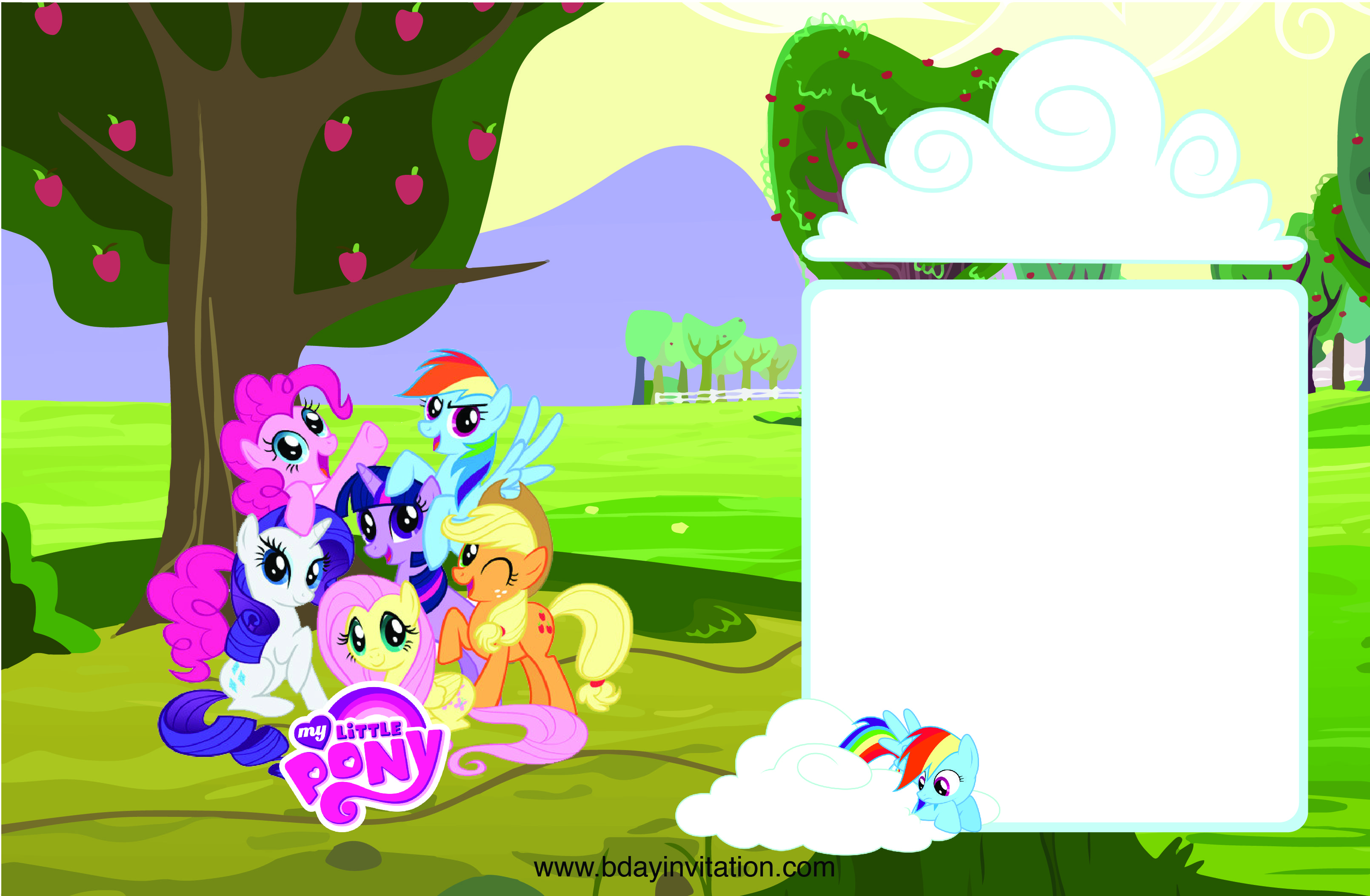 Awesome FREE Printable My Little Pony Birthday Invitation Template