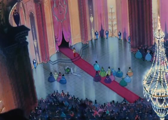 Disney ballroom google search murals pinterest for Disney princess ballroom mural