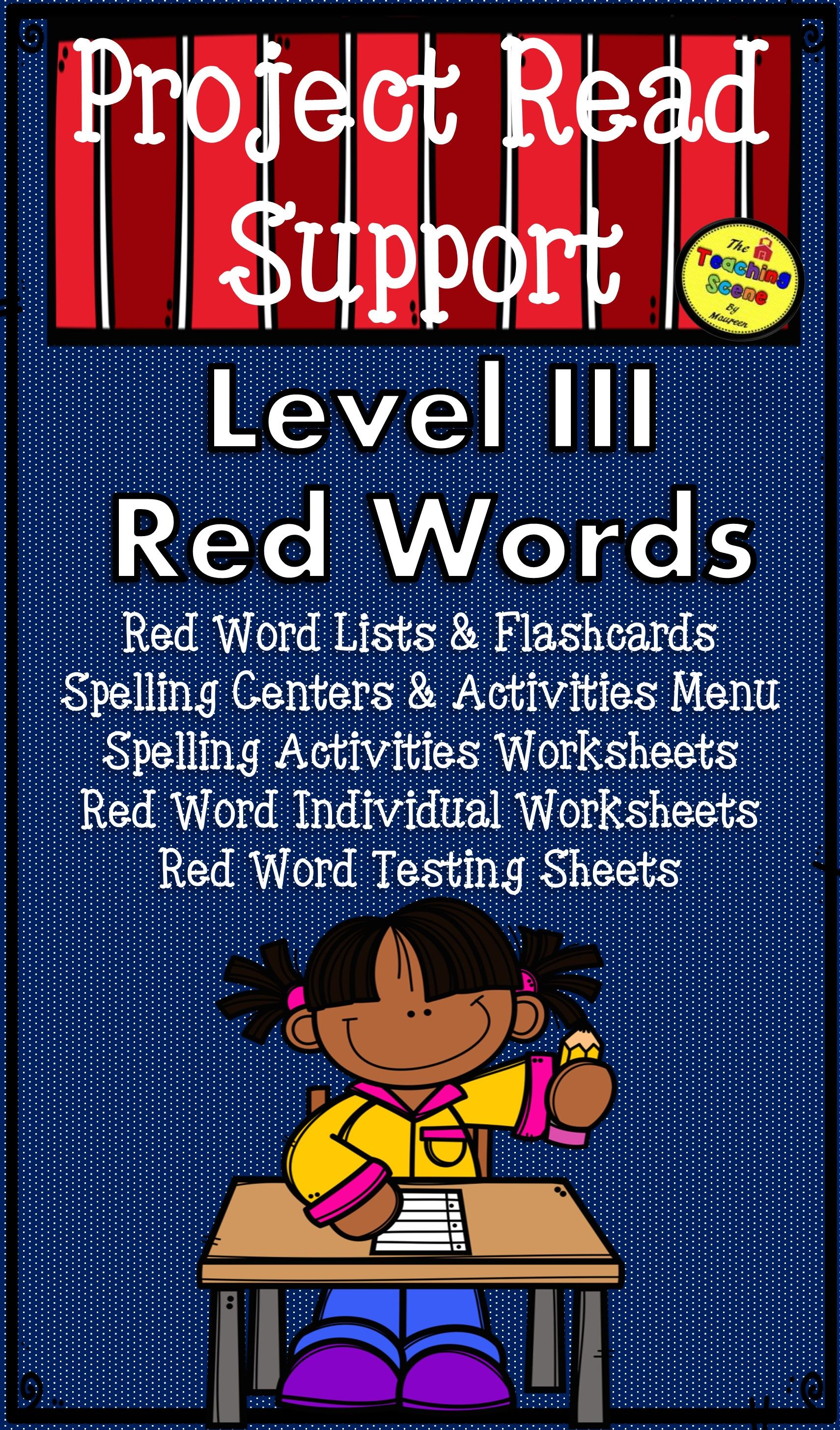 Project Read Support Red Word Level Iii Centers