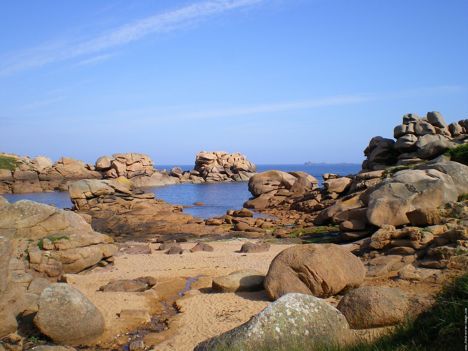 Perros Guirec Known For Its Pink Granite Rocks Which Have Been Sculpted By The Sea Into Varied Shapes And Patterns