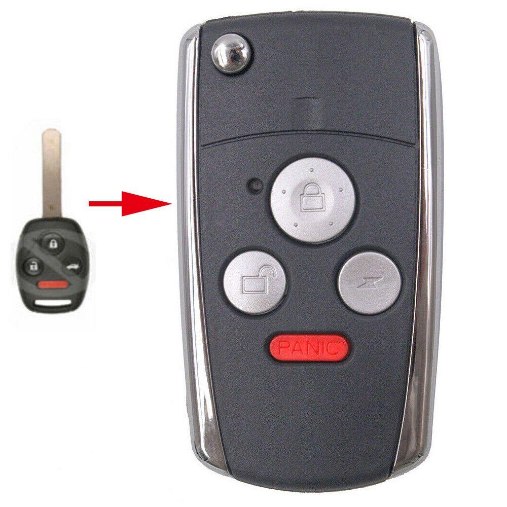 Flip remote key shell for honda odyssey civic crv 4 bt