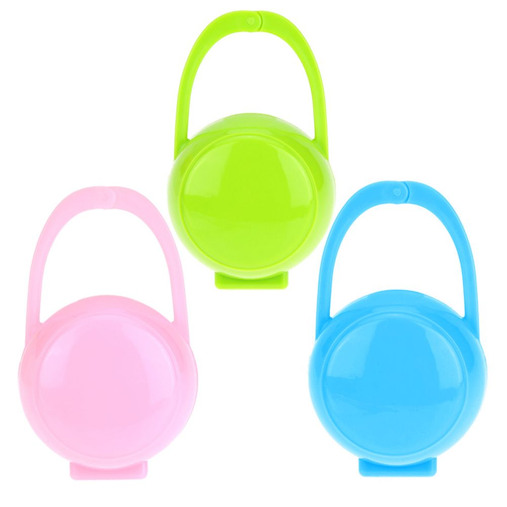 3pcs Baby Soother Container Holder Pacifier Dummy Box Travel Storage Case  Gift Safe Pacifier Holder PP