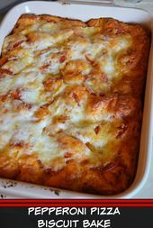 Photo of Pepperoni Pizza Biscuit Bake STOP..AND LOOK NO FURTHER. A ME…