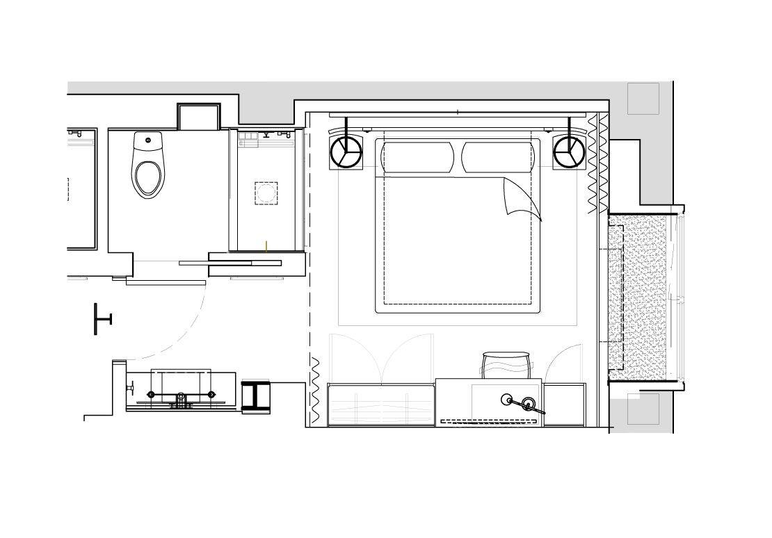 Studio King Small Hotel Room Hotel Room Plan Floor Plans