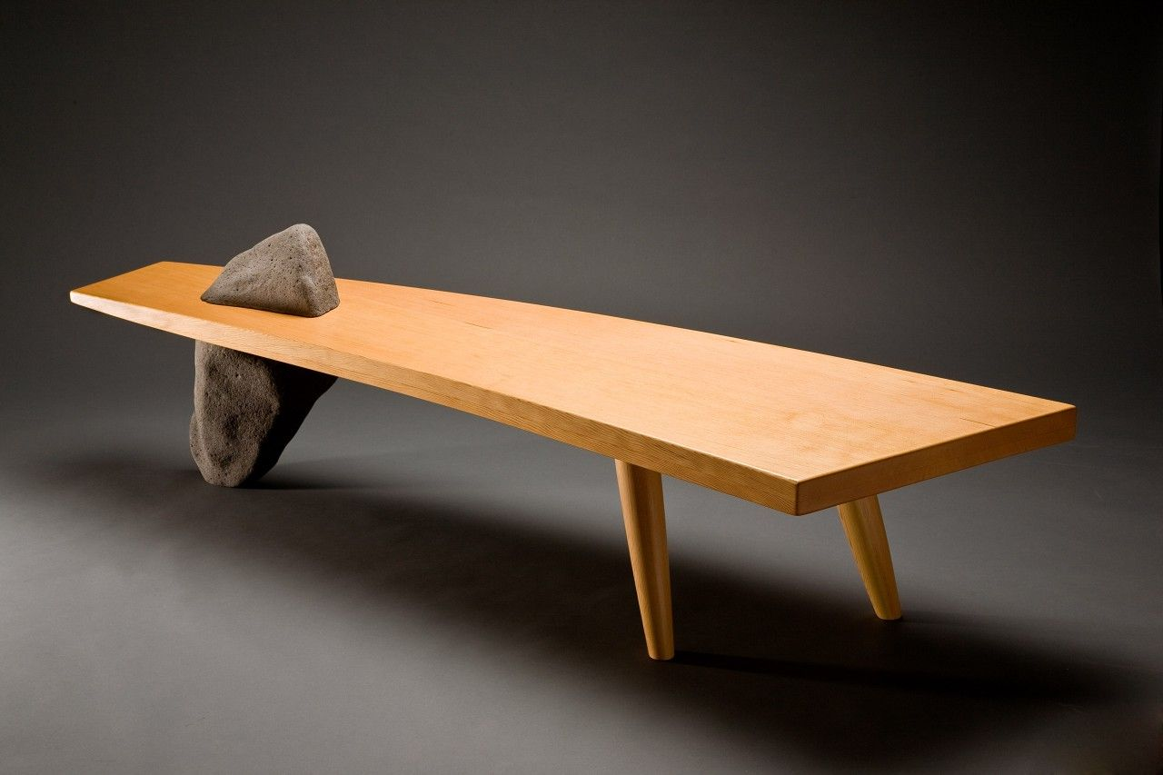 Gibraltar bench curved wood with stone leg can be used as a coffee gibraltar bench curved wood with stone leg can be used as a coffee table or custom geotapseo Images