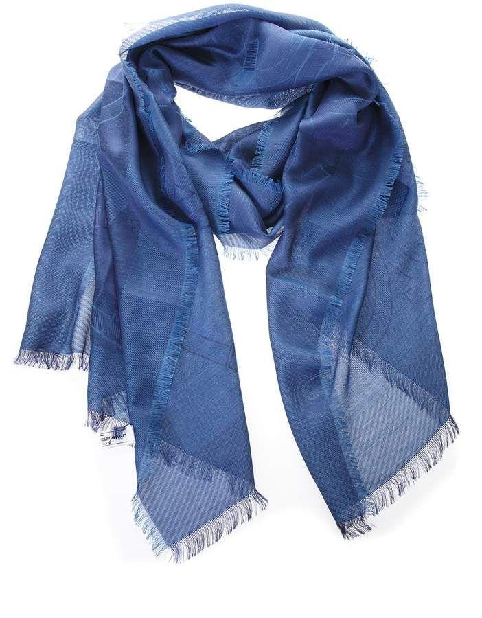 4a3f8505981df Salvatore Ferragamo Silk-cashmere Blend Gancino Logo Scarf ...
