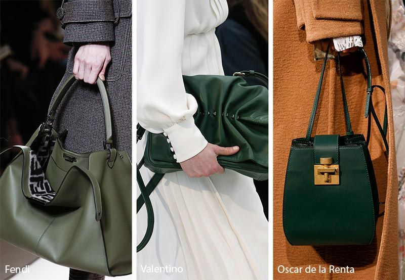 Fall Winter 2018 2019 Handbag Trends Deep Green Bags Purses