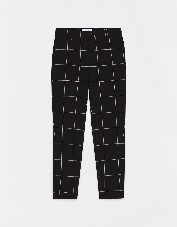 Pantalon Tailoring Slim Fit De Cuadros Pantalones De Cuadros Hombre Vestimenta Casual Hombres Pantalones De Hombre Moda