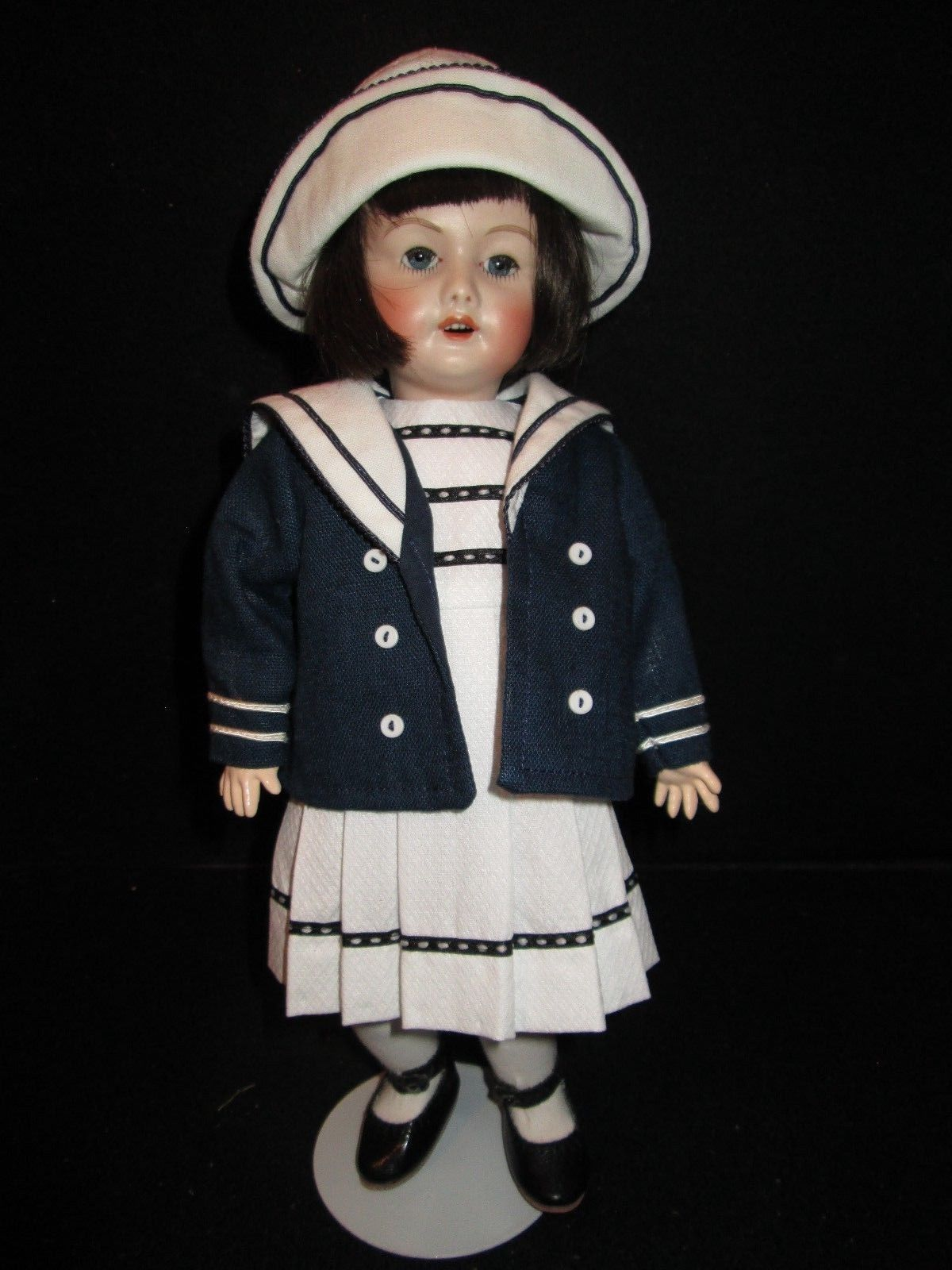 """NEW  11/"""" Bleuette PATTERN for a Sailor Dress and Hat"""