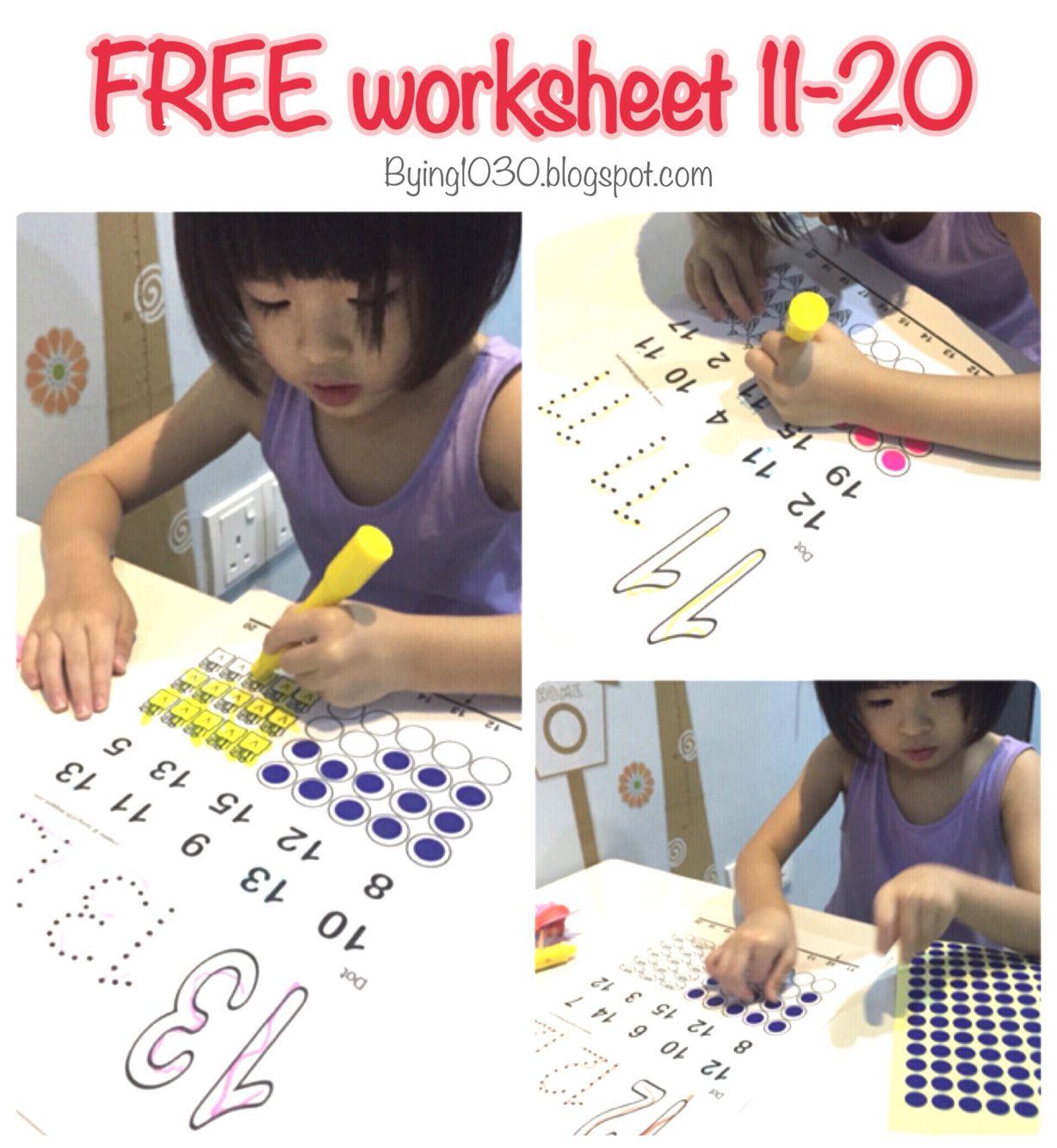 Free Numbers Worksheet 11 To 20 Bying Spot