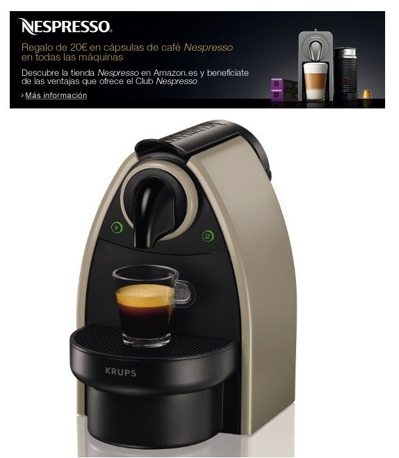 Chollo!! Cafetera Krups Nespresso Essenza Earth XN2140 por
