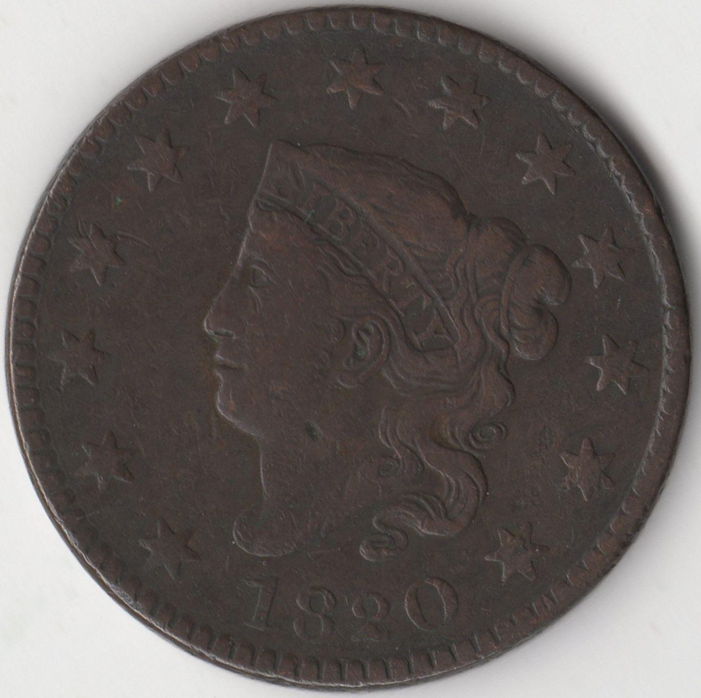 1820 U S A Coronet One Cent World Coins Pennies2pounds Coins World Coins Rare Coins