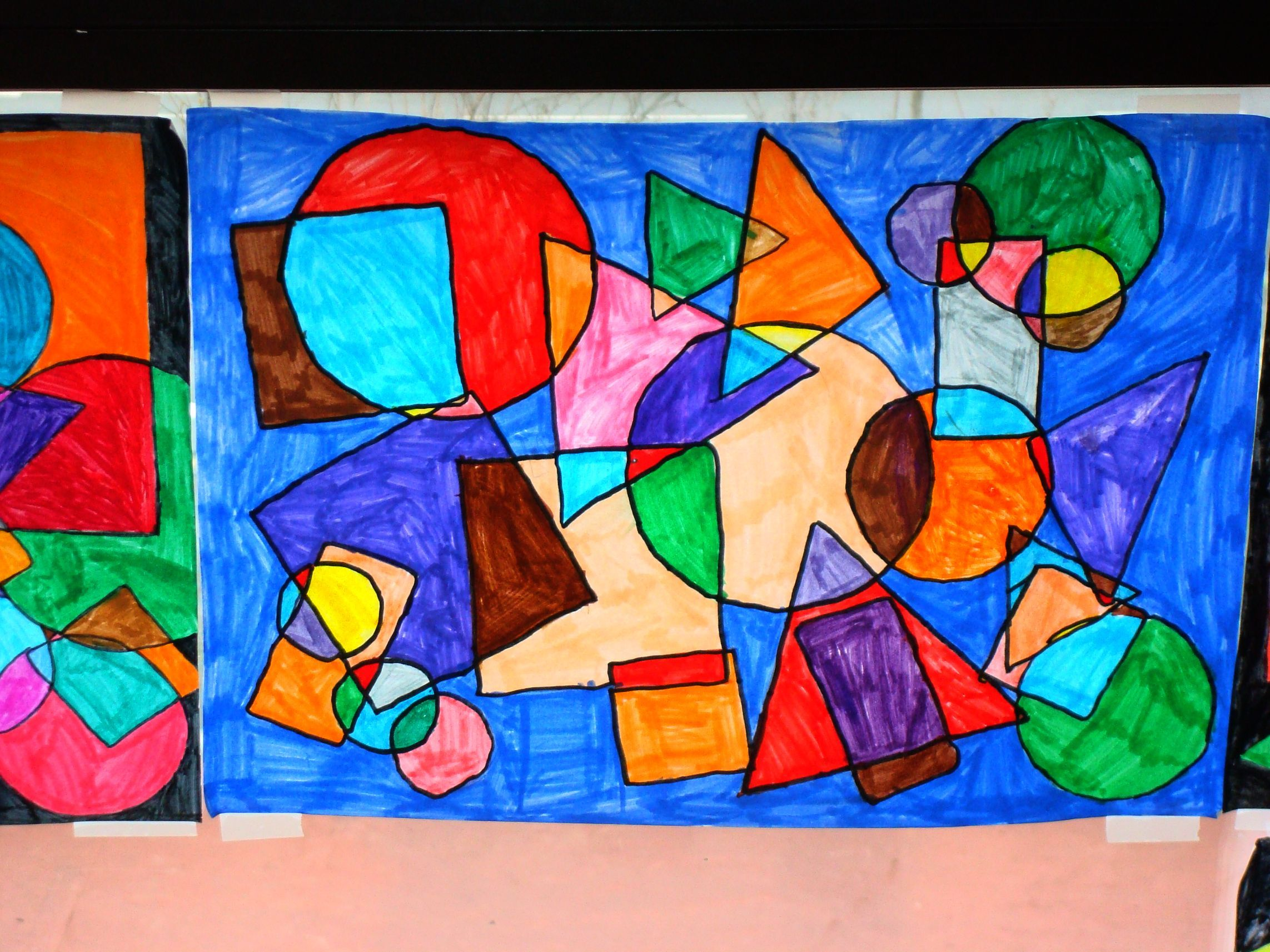 Art Projects Kindergarten Artist Kandinsky I Think Ill Do This With My Kinders When We