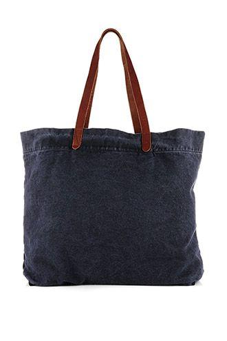 db2f15ab99143 Esprit - Canvas-Shopper mit Leder im Online Shop kaufen Große Taschen