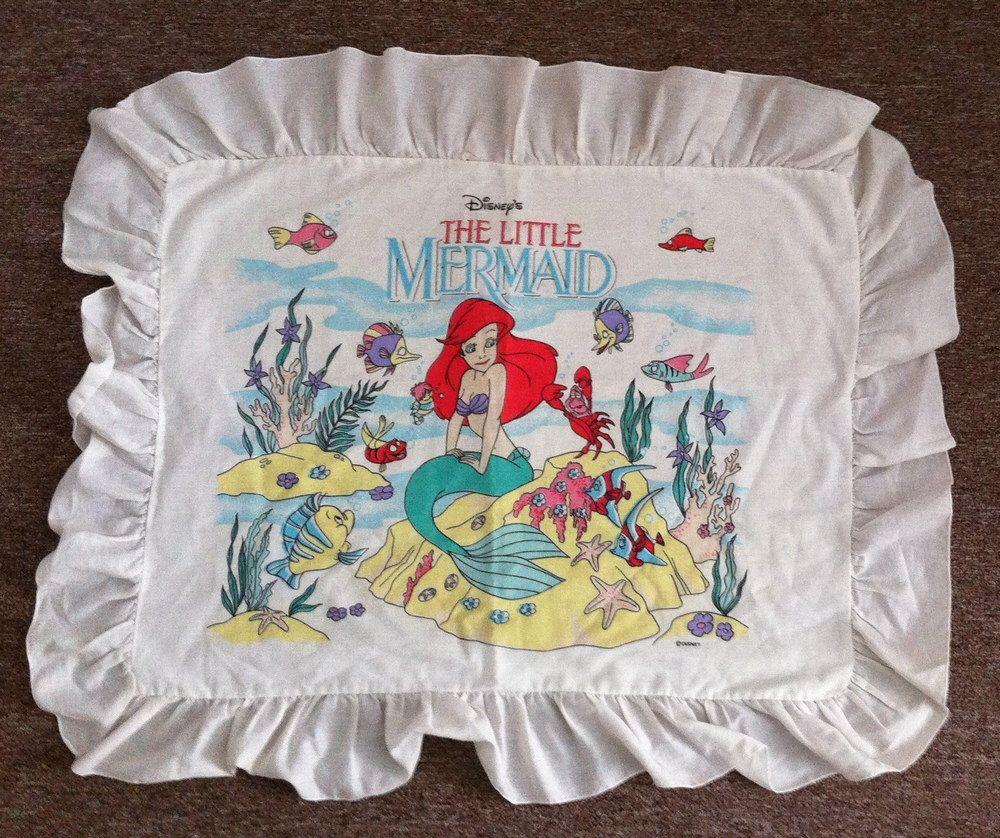 "90's Disney The Little Mermaid Ruffled Sham Case, 24"" x 18"" Space For Pillow by KushybuttKreations on Etsy https://www.etsy.com/listing/231705969/90s-disney-the-little-mermaid-ruffled"