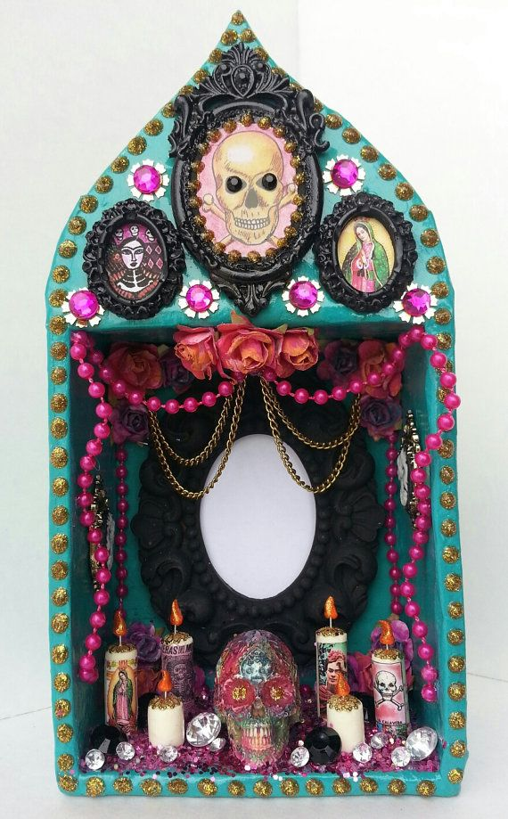 Personalized Add Your Own Photo Image Day Of The Dead Frame Shrine