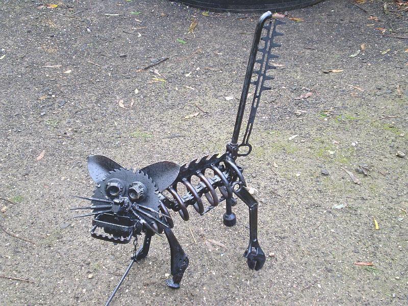 Metal Garden Sculptures | METALBOLICALS ~ Metal Garden Art Statues U0026  Sculptures/Animals/Felix