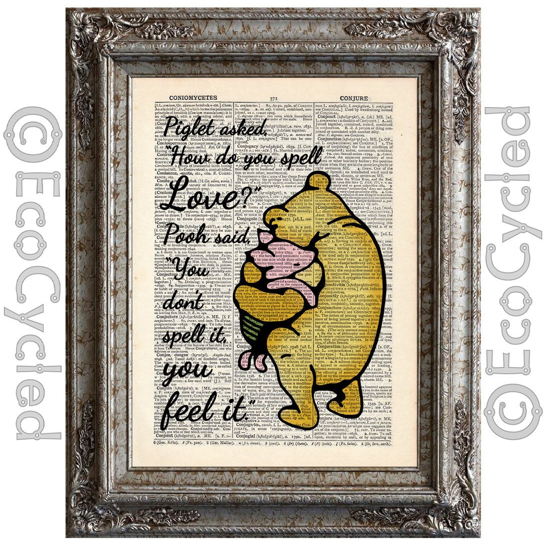 Winnie the Pooh & Piglet how do you spell love, feel it