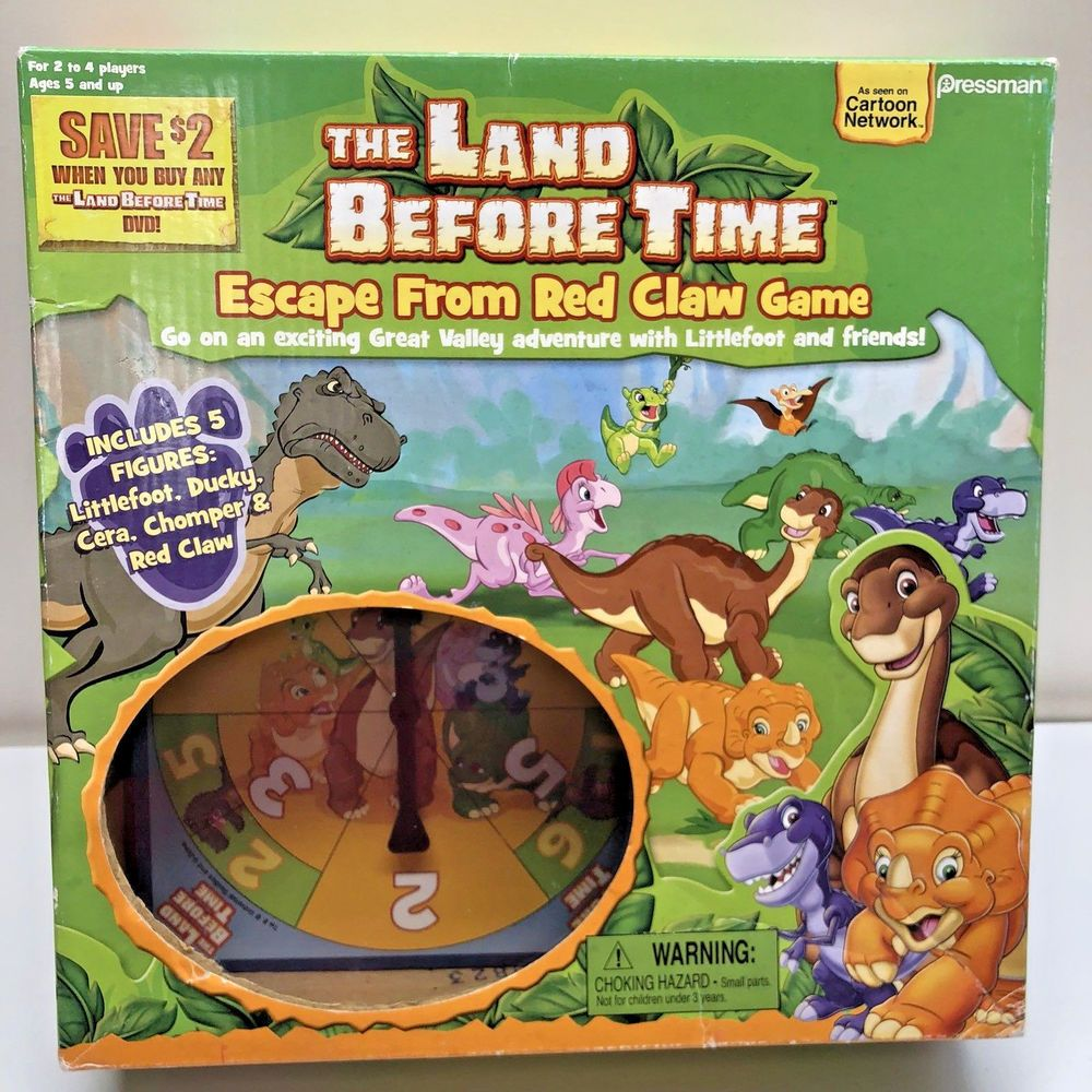 The Land Before Time Escape From Red Claw Board Game