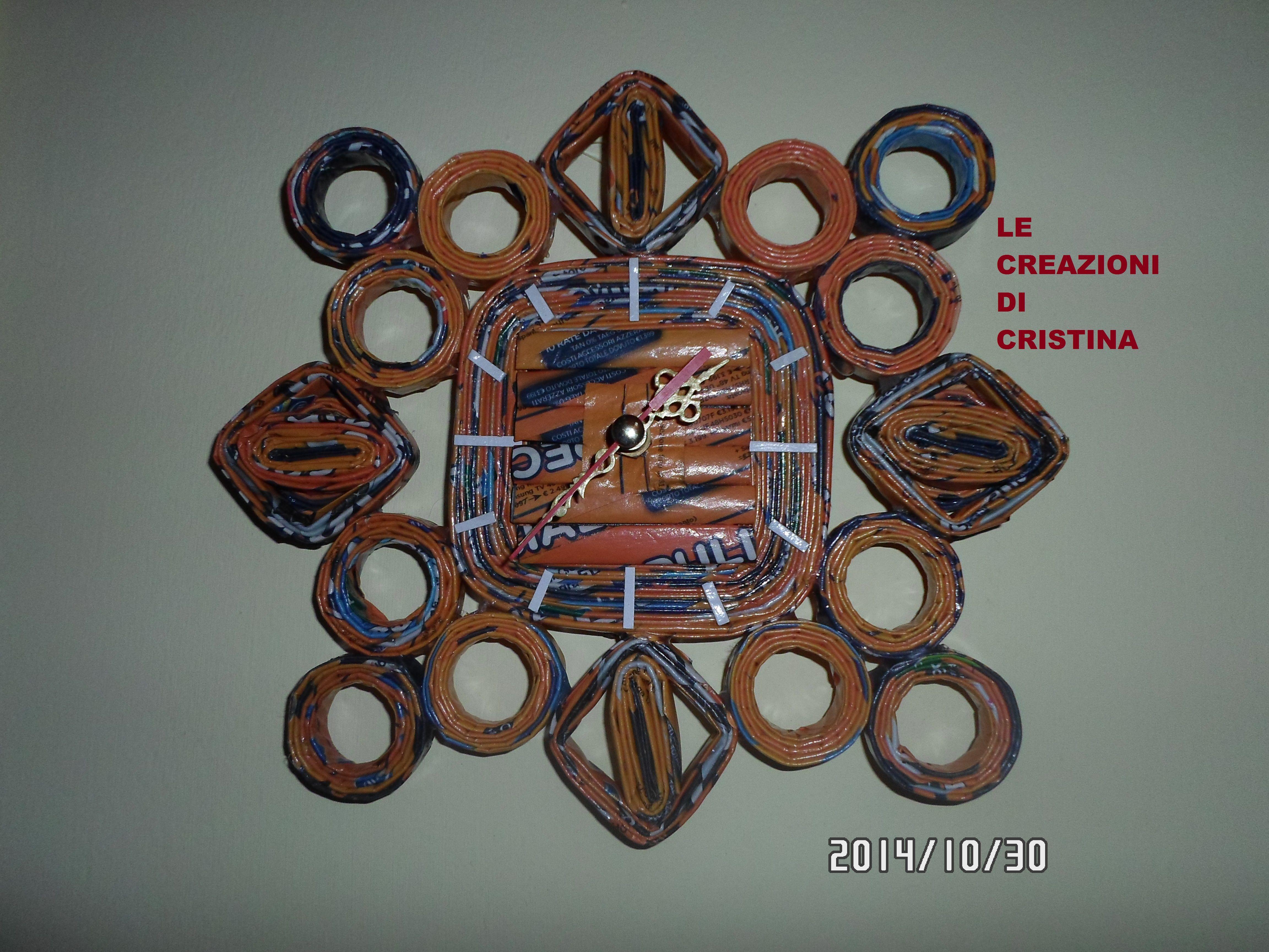 Orologio Realizzato Con Le Cannucce Di Cartail Meccanismo