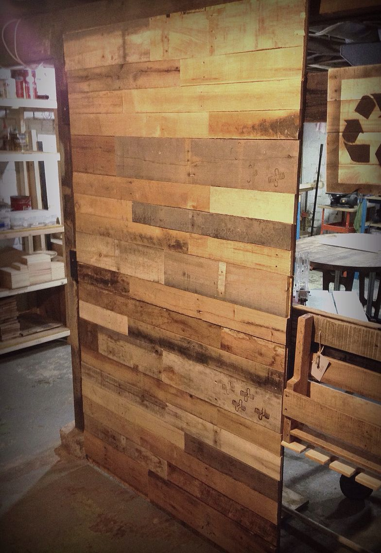 DIY pallet wood photo back-drop made with 4x8 OSB, pallets ...