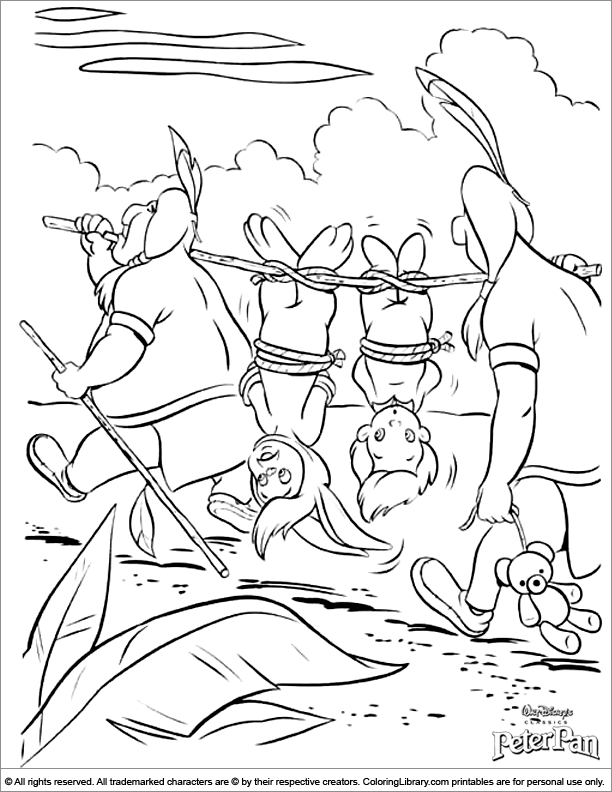 Cool Peter Pan coloring page   Coloring pages   Coloring pages ...