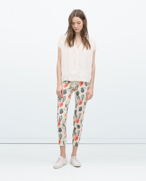 ZARA - NEW THIS WEEK - PRINTED TROUSERS
