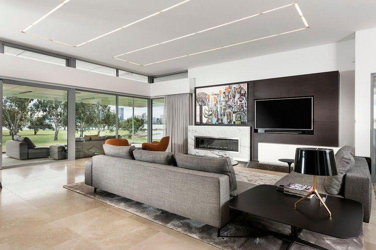 LED Deckenbeleuchtung \u2013 luxuriöses Einfamilienhaus in Australien - led deckenbeleuchtung wohnzimmer