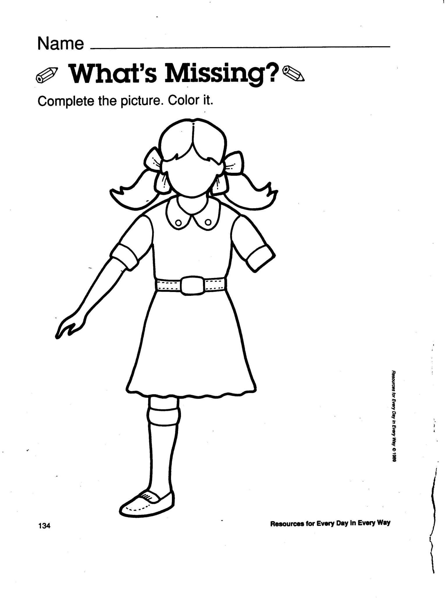 9 Missing Parts Worksheet For Preschool