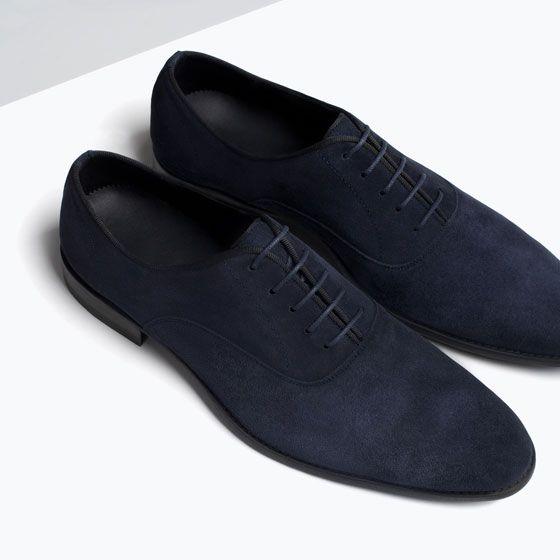 Zara Man Suede Grosgrain Oxford Shoe In 2019 Mens