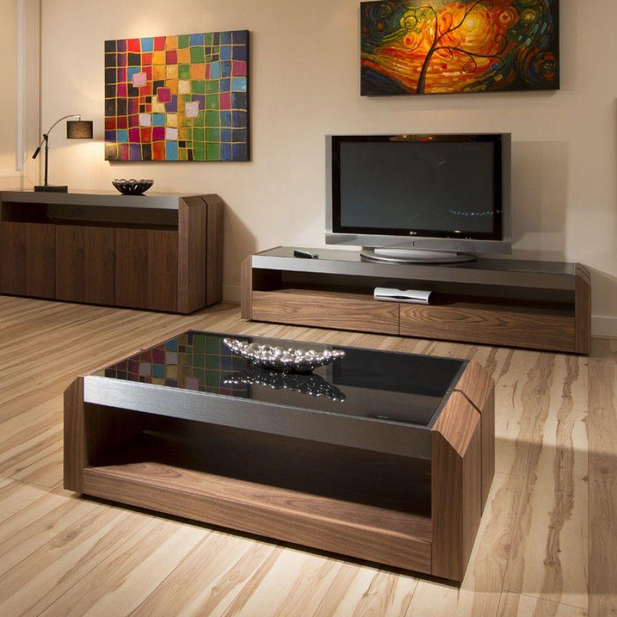 Large Walnut Glass Rectangular Coffee Table Modern Designer 01a Centre Table Living Room Center Table Living Room Living Room Units [ 900 x 900 Pixel ]