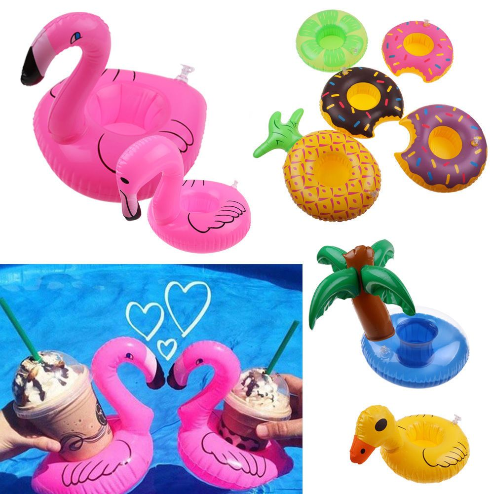 Summer Pool Water Inflatable Swim Floats Cup Holder Drink Holder Party Boat Toy.