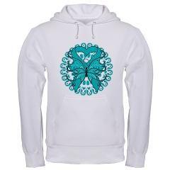 Ovarian Cancer Butterfly Hooded Sweatshirt $44.99