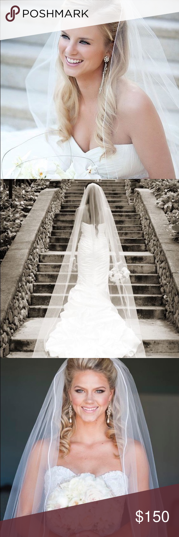 Classic Cathedral Length Wedding Veil For sale classic
