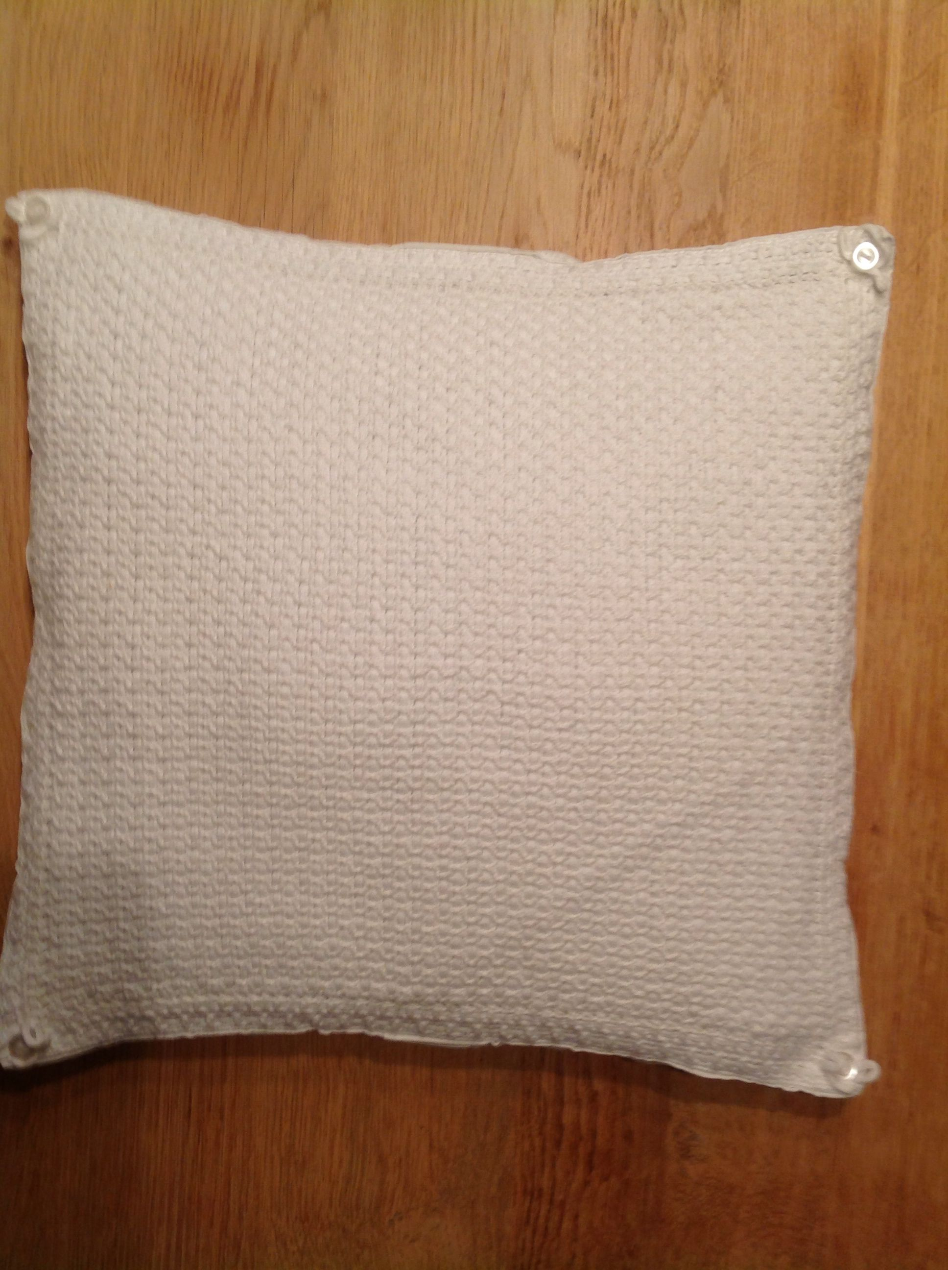 Cushion cover, crochet, weaving