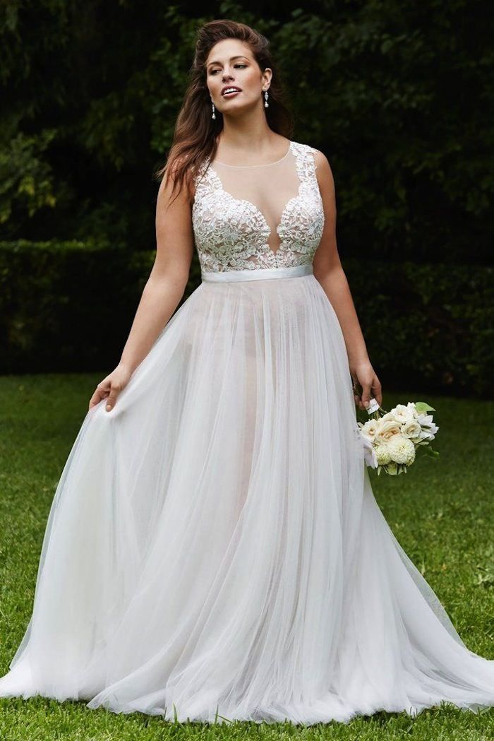 60de3a1d5f1 Plus Size Wedding Dresses  A Simple Guide - MODwedding