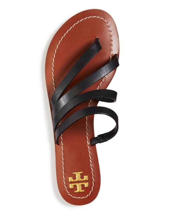 fddc857773bda Tory Burch Women s Patos Strappy Leather Thong Sandals