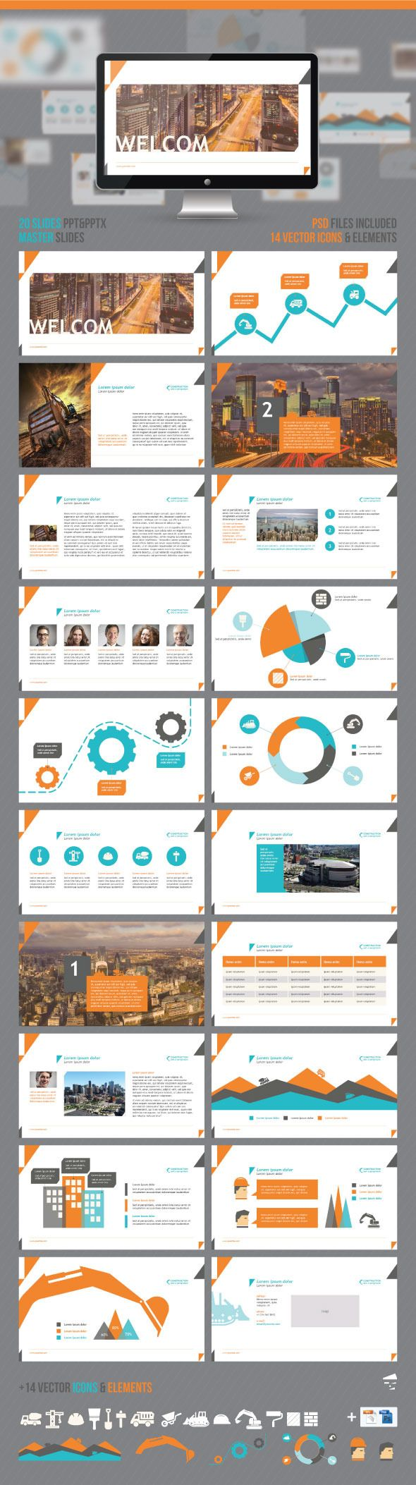 construction powerpoint presentation | business powerpoint, Powerpoint templates