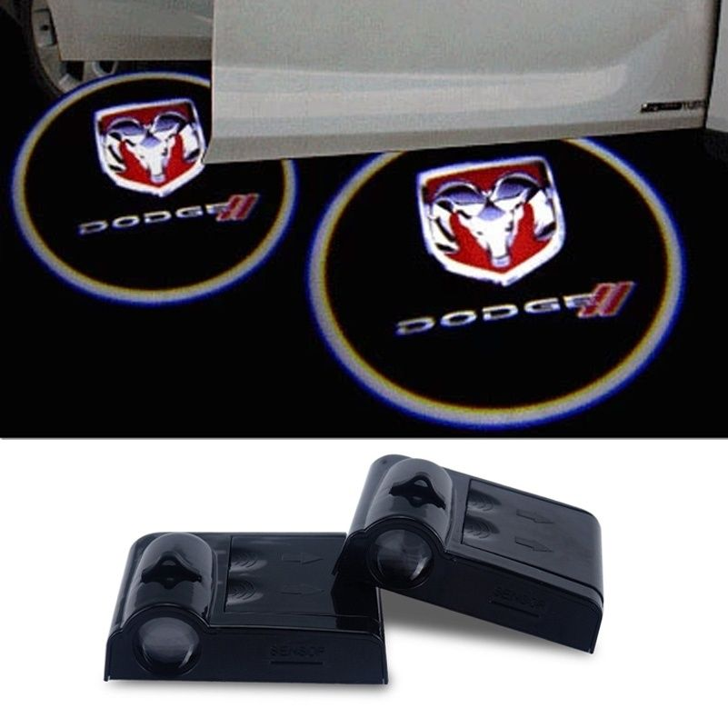 Blue Dodge CHALLENGER For Blue Dodge CHALLENGER Wireless Car Door Led Welcome Laser Projector,No Drill Type Logo Light for Dodge