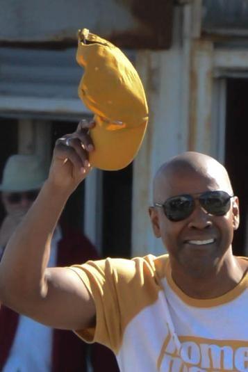 Denzel Washington Was On Salisbury Beach On Friday To Shoot A