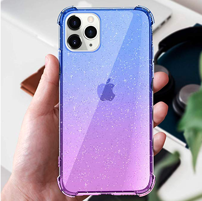 Iphone 11 Pro Case Cute Cool Girly Bling 5 8 Protective Soft Grip Blue Purple Iphone 11 Pro Case Iphone Phone Cases Iphone