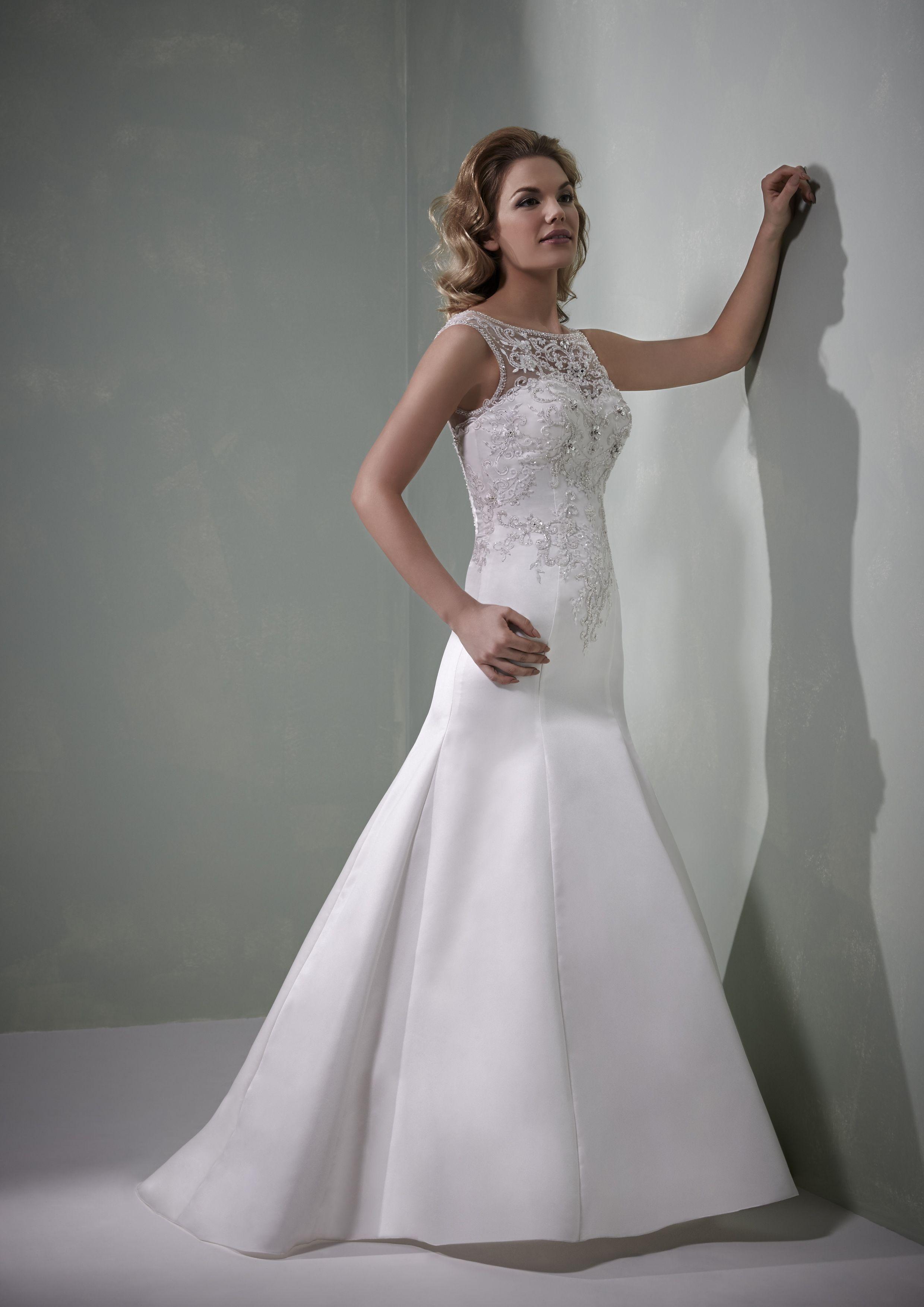 Brooke ivory or white, zip back, a fishtail wedding