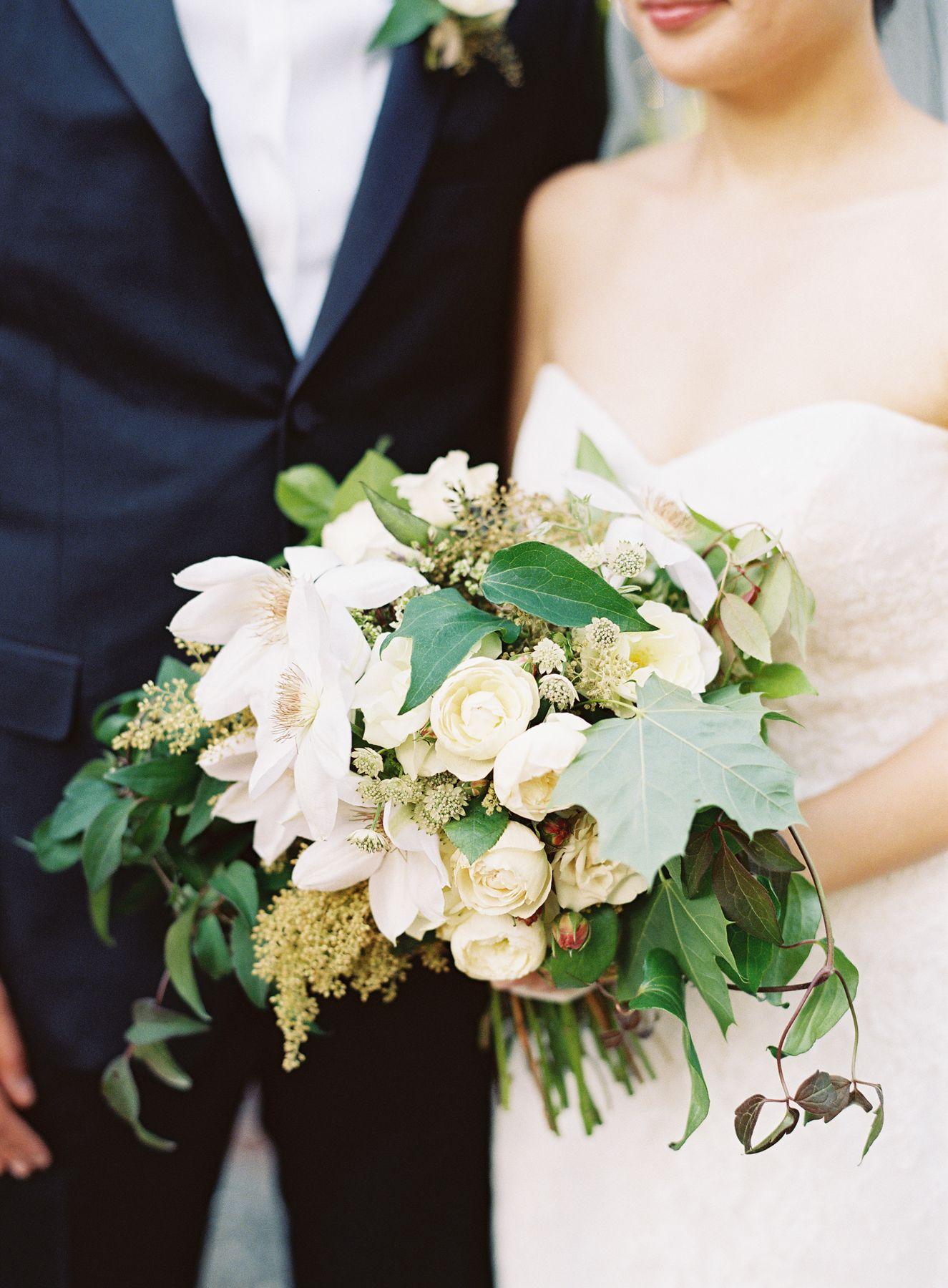 Elegant black tie wedding in washington lush garden bridal