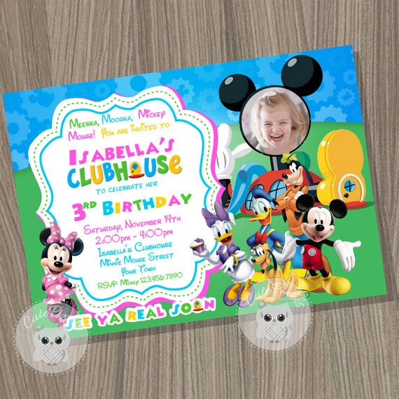Minnie Mouse Invitation Mickey Mouse Clubhouse Invitation Minnie