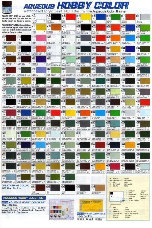 Mr Hobby Gunze Aqueous Color H311 H346 10ml Acrylic Paint