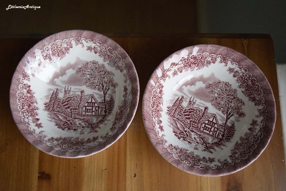 Set of 2 Vintage Churchill Made in Staffordshire England Pink ...