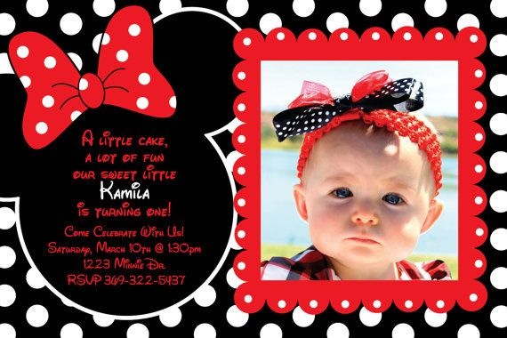 Huge Selection Of Minnie Invitations Custom Red And Black Polka Dot Mouse Invitation OR Thank You Card On Etsy 1000